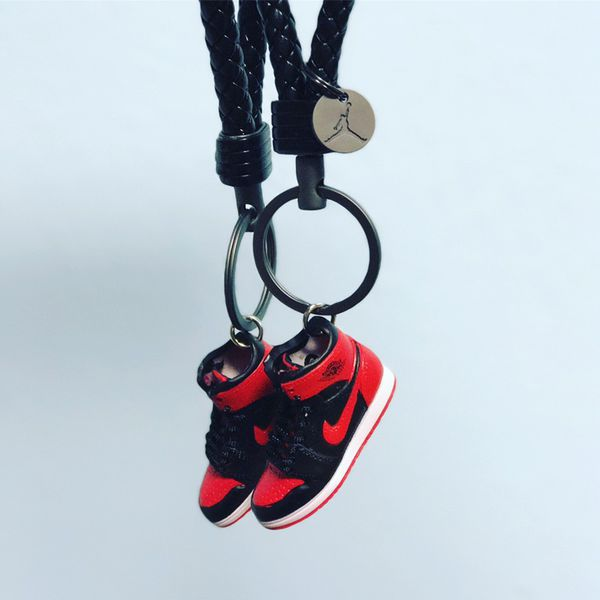 d80ec843a58 Nike Air Jordan Retro 3D sneaker Keychain selection bred banned space jam