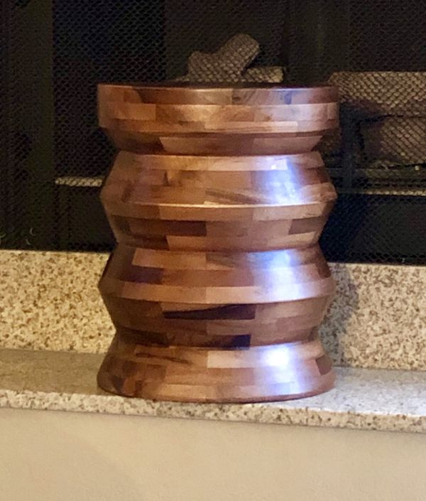 Tremendous Zigzag Acacia Wood Drum Stool For Sale In Costa Mesa Ca Ncnpc Chair Design For Home Ncnpcorg