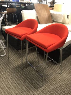Set of 2 red counter bar stools for Sale in Alexandria, VA
