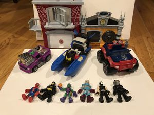 Imaginex Fisher Price Toys Lot Batman Spider-Man for Sale in Kenmore, WA