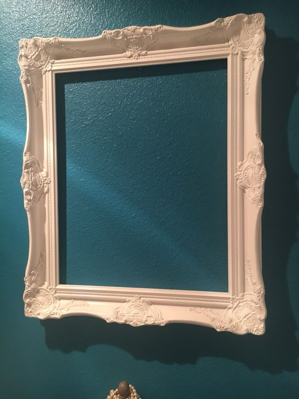 White Victorian frames 16x20 each no glass only 2 left (Furniture ...