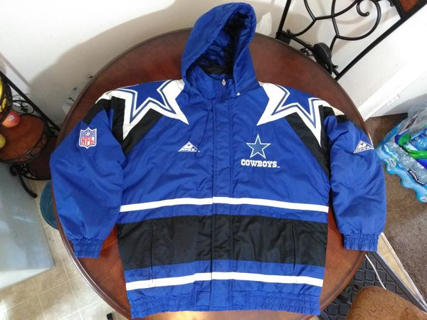 size 40 f0727 43ede Vintage Dallas Cowboys Jacket Authentic Pro Line Apex Large Mens Texas Snow  Rain weatherproof Blue Winter NFL Football Sports Hoodie Zipper American ...