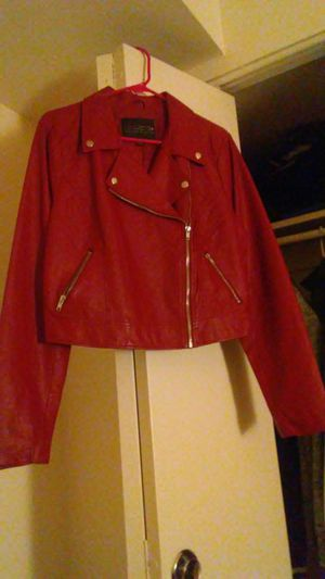 Women's Forever 21 Red Leather Moto Jacket 1X for Sale in Washington, DC