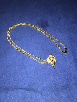 """22Inch 14K Gold Chain W/ Angel pendent"""" Thumbnail"""