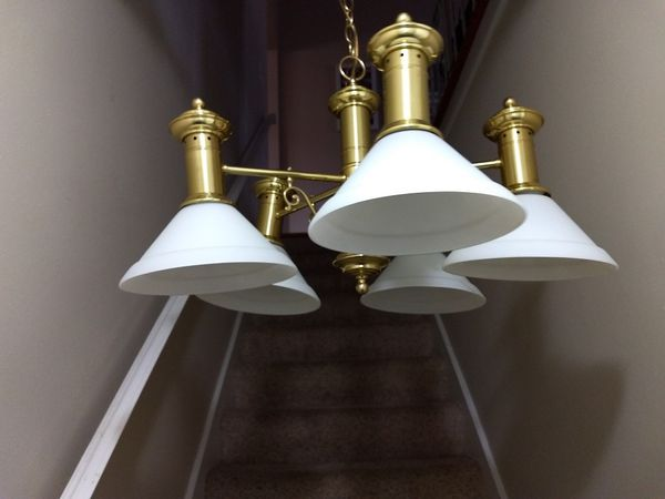 5 light hanging light matching single light for sale in st louis