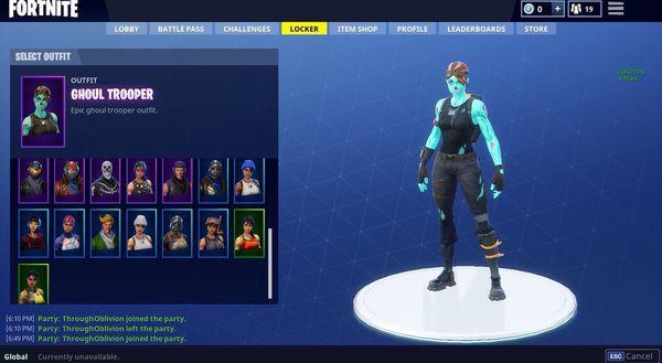 Fortnite Battle Royale Skull Trooper Ghoul Trooper Account Must