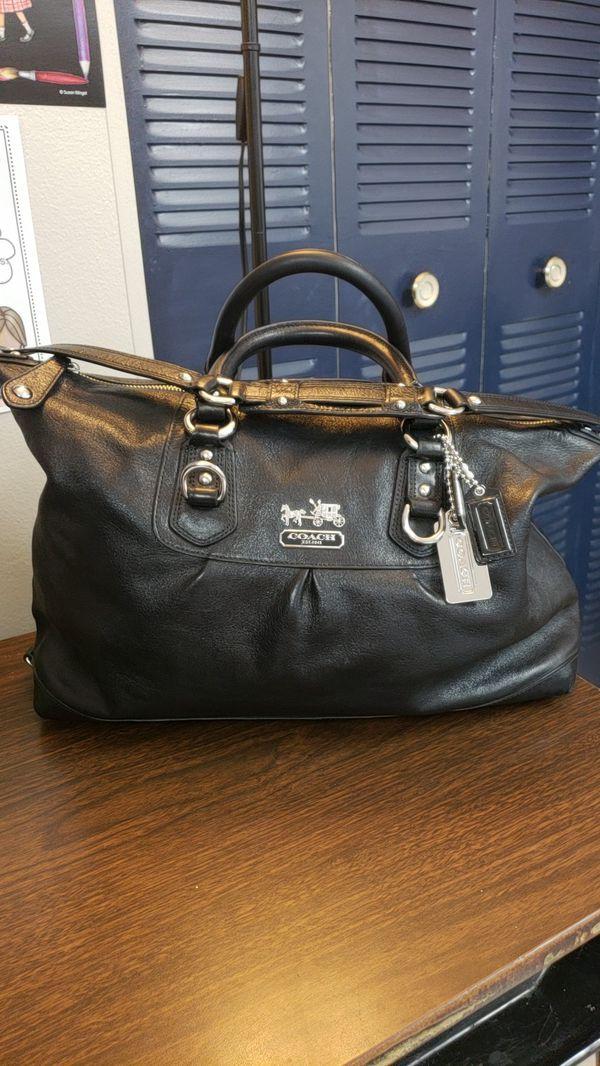 9e8d7a7d68 Black Leather Coach Madison Sabrina Satchel Handbag. for Sale in ...