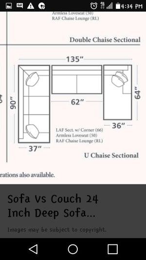 U Sectional couch for Sale in Fort Worth, TX