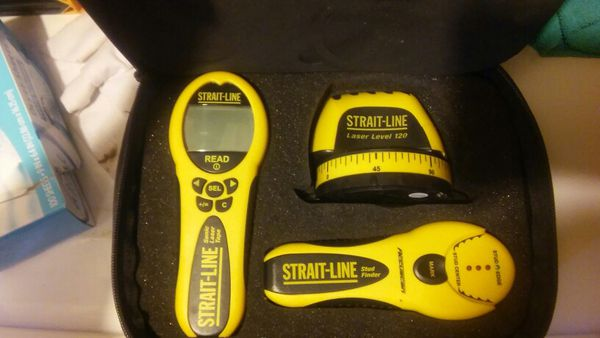 Strait Line Laser Level 120 Stud Finder 76 And Sonic