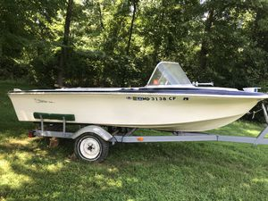 Trailer,and boat with no motor for Sale in Fort Washington, MD