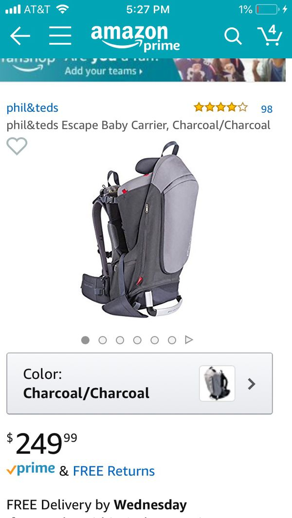 bb96f89b799 Phil and teds escape hiking backpack baby carrier for Sale in Parker ...
