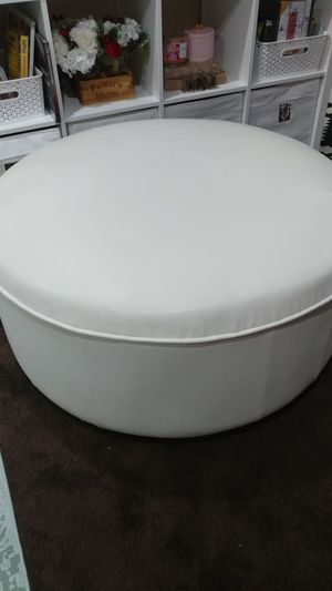 Faux leather ottoman for Sale in Kensington, MD