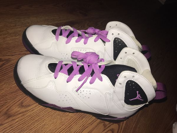 987d91bca174 New Air Jordan 7 Retro GG Shoes (442960-127) White Fuchsia Glow-Black- Mulberry