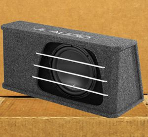 Photo Jl Audio Car Subwoofer 12 Bass Speaker 1000 Watts High Output Series Ported Enclosure 🚨 90 Day Payment Options Available 🚨 No Credit Needed🚨