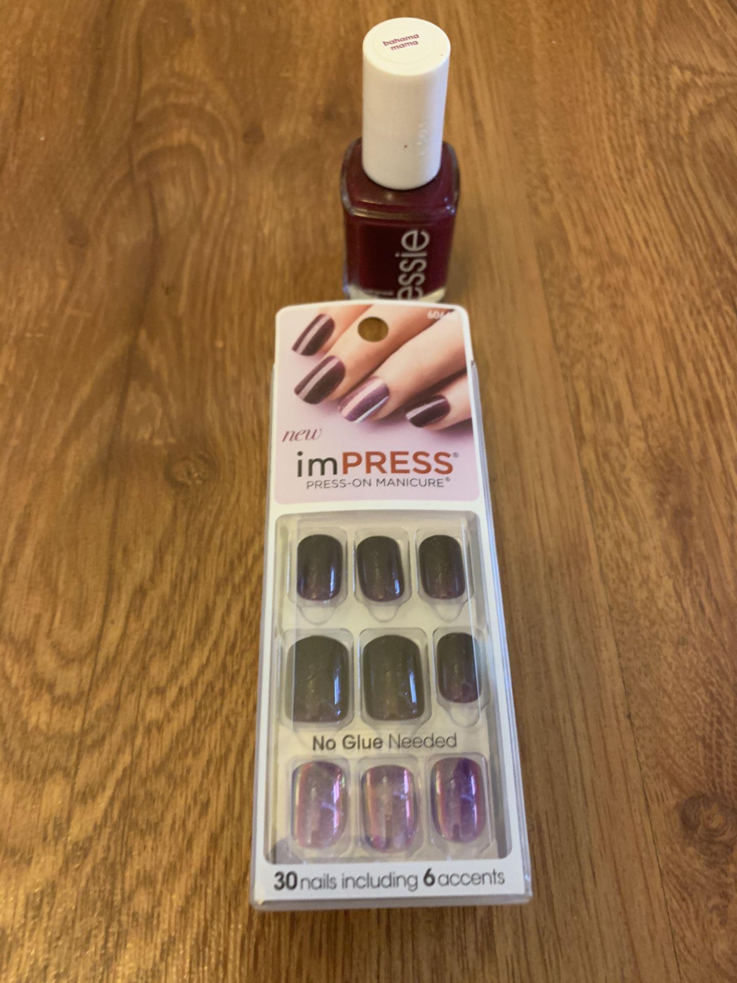 Brand ImPRESS nails & essie lacquer