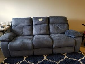Corinne Blue Reclining Sofa For Sale In Cary Nc Offerup