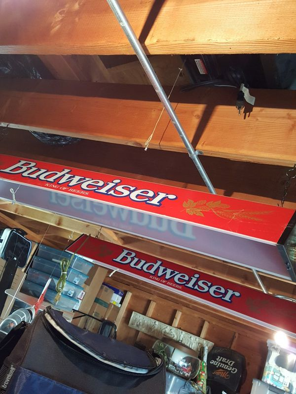 VINTAGE BUDWEISER POOL TABLE Light For Sale In Wheaton IL OfferUp - Vintage budweiser pool table light