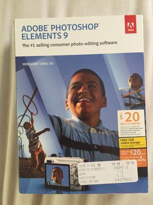 Adobe Photoshop Elements 9 for Sale in Nashville, TN