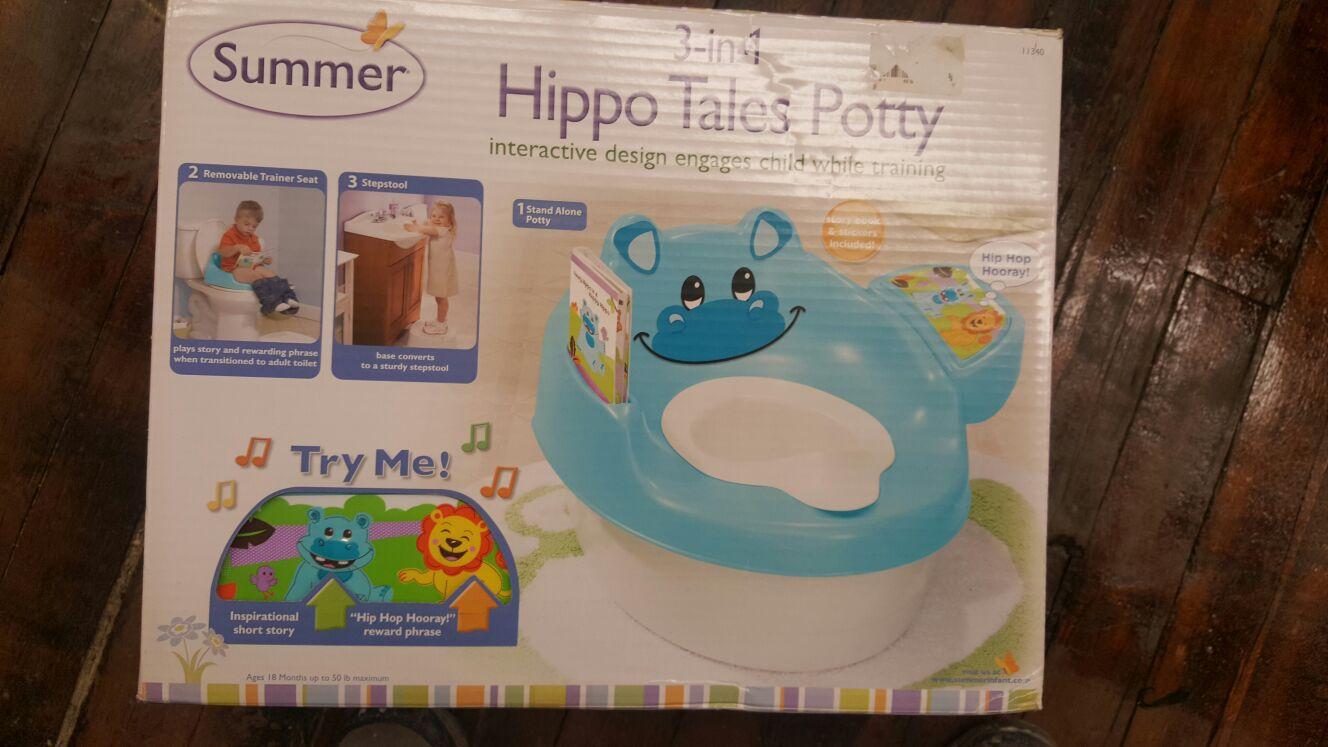 Brand new hippo potty chair