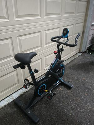 Photo Exercise stationary bike, spin bicycle