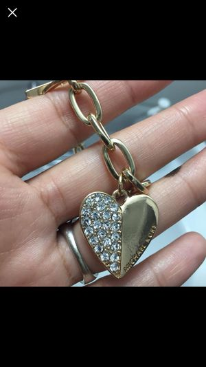 Mk Michael Kors Gold Tone Bracelet heart charm bracelet for Sale in Silver Spring, MD