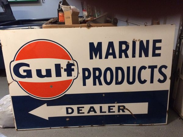 Gulf Marine Products Dealer - Porcelain Sign for Sale in Easley, SC -  OfferUp