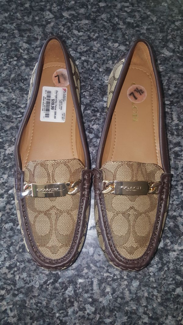 ef9225595f2 Women s Coach loafers khaki   Chestnut size 7.5 for Sale in Florence ...