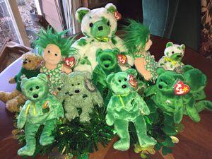 Photo St. Patrick's Day dolls- beanie babies, buddy, kids, attic treasures