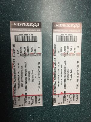 Concert tickets for Travis Tritt at the Birchmere for Sale in Alexandria, VA