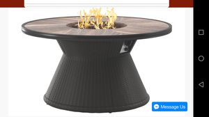Marsh Creek Brown Round Fire Pit Table | P775 for Sale in Houston, TX