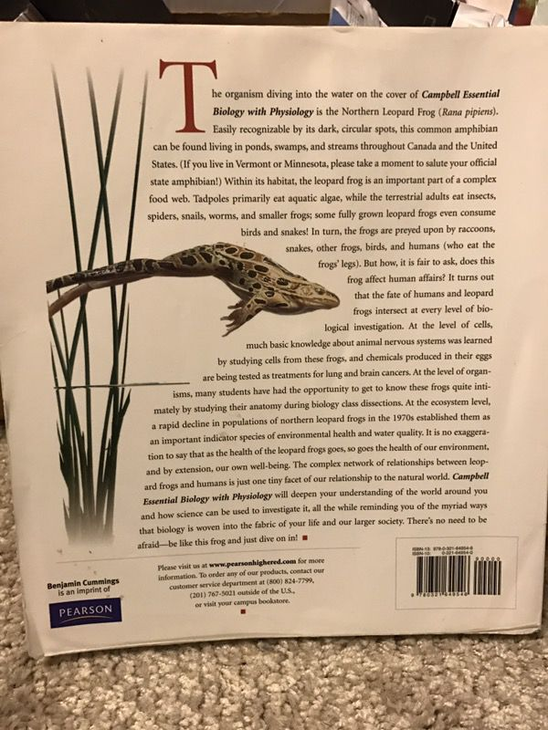 Campbell Essential Biology with Physiology, 3rd Edition HCC (Books ...