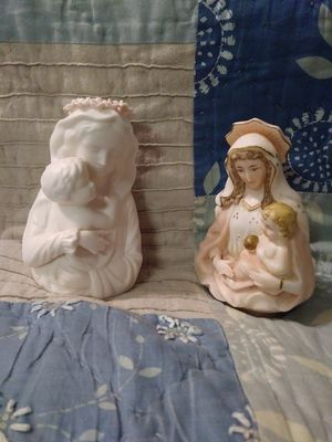 Vintage Virgin Mary and Baby Jesus Figurines for Sale in Glen Burnie, MD