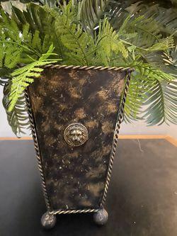 Beautiful fake green plant with vase Thumbnail