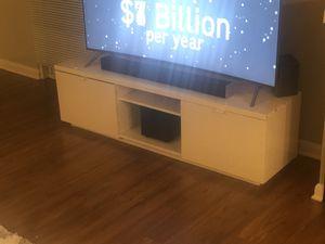 White gloss TV stand like new byas for Sale in Arlington, VA
