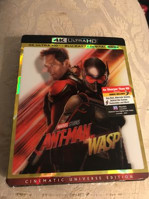Ant man and the wasp 4k and blu ray for Sale in Portland, OR