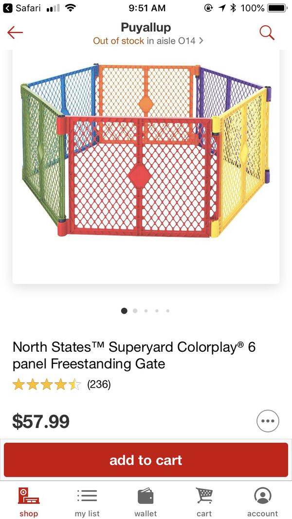 baby play yard gate for sale in orting wa offerup
