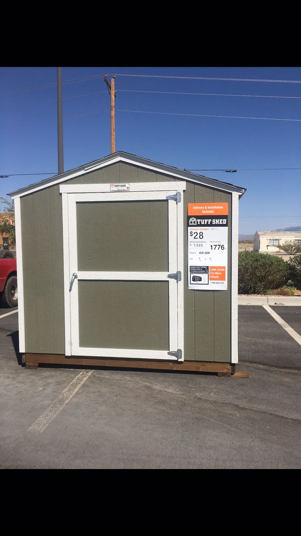 8x10 Kr 600 Tuff Shed Home Depot Located In Pahrump For