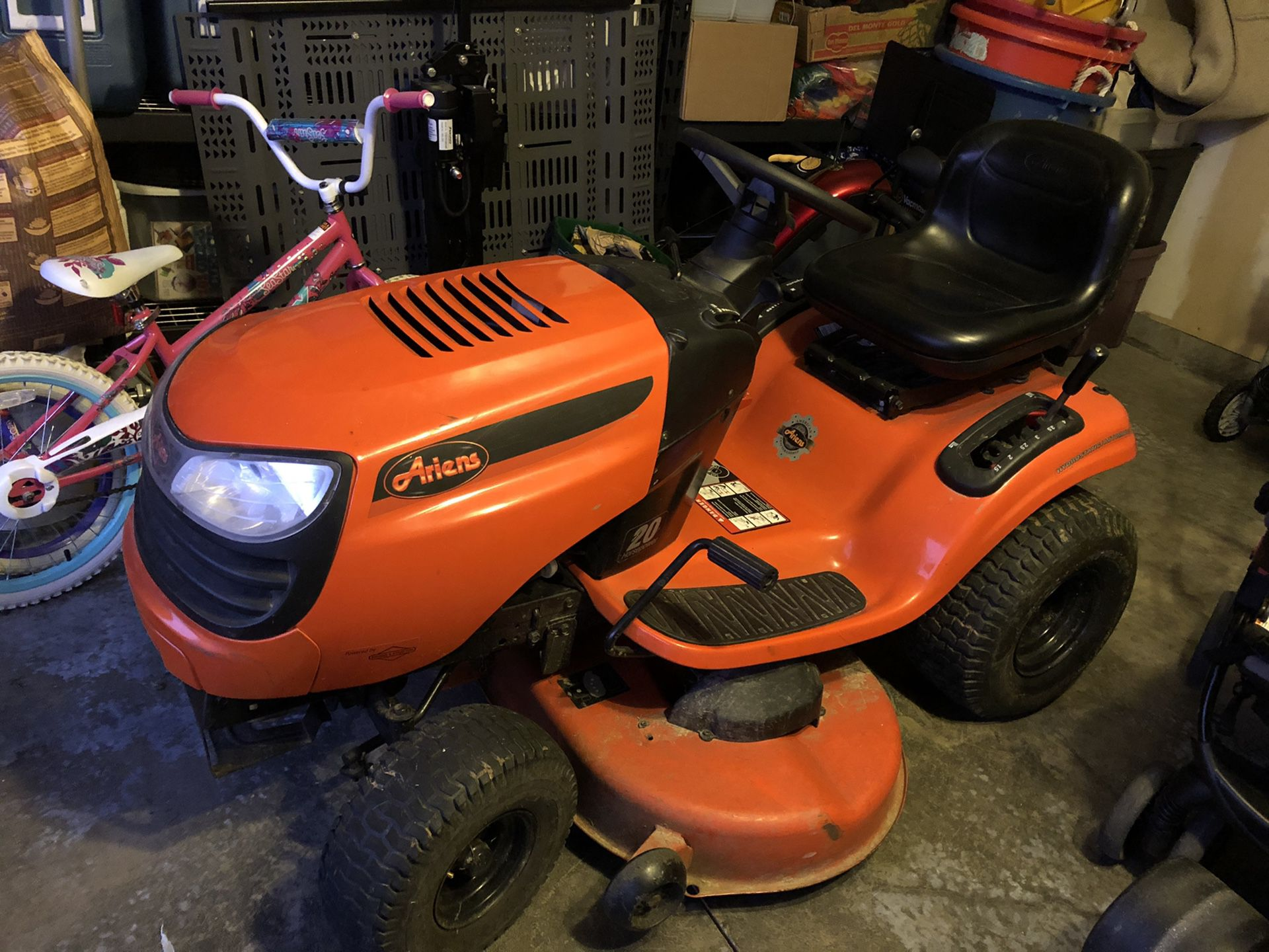 Lawn mower-Aries brand and in good condition.