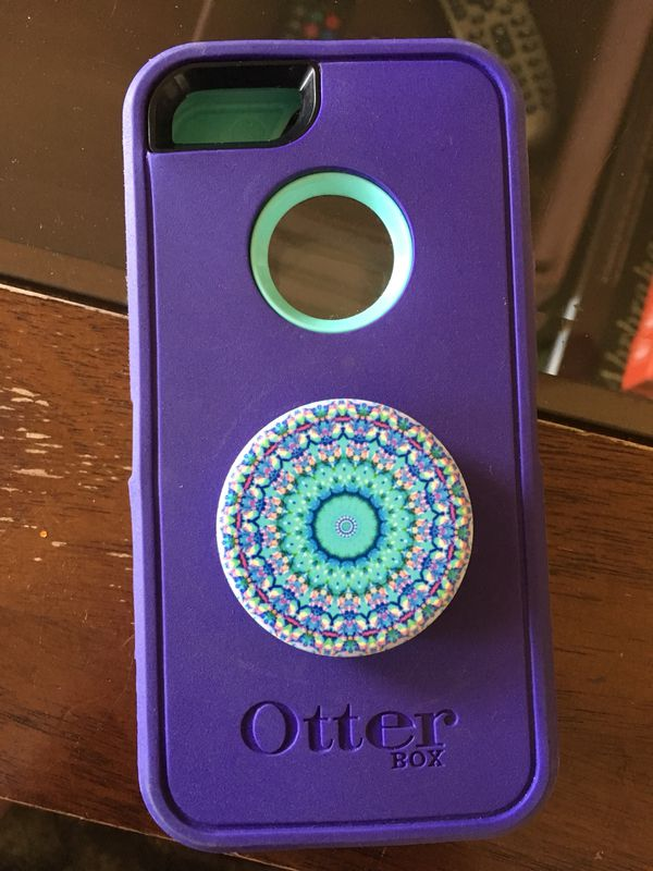 hot sales f9bce 167cc Otterbox iPhone SE/5S Case W Popsocket for Sale in Chandler, AZ - OfferUp
