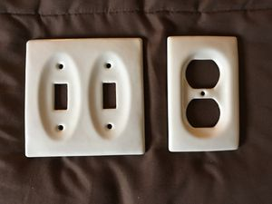 Double switch plate and outlet wall plate for Sale in Falls Church, VA
