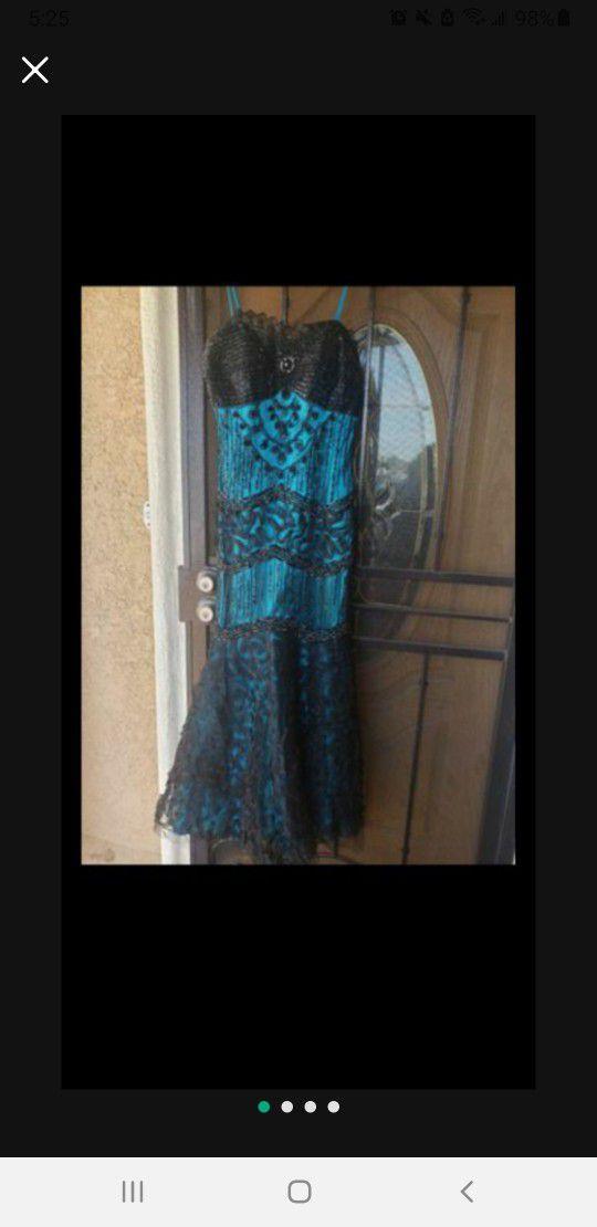 Black Turquoise Dress