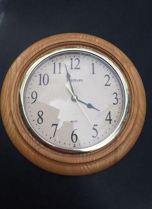 Wooden design clock by Ingraham for Sale in Alexandria, VA