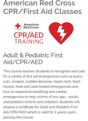 Adult/and or Pediatrics CPR/First Aid/AED for Sale in Florissant, MO ...