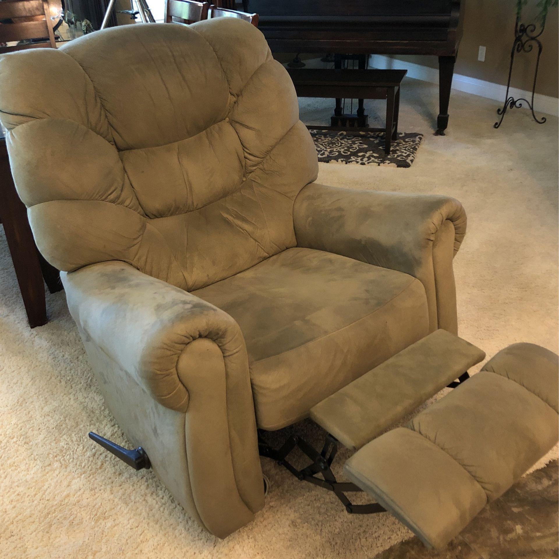 Green Microfiber Lazy boy Chair