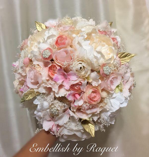 Silk Bouquet Wedding/Quinceañera/Bouquet de novia/Boda (General) in ...