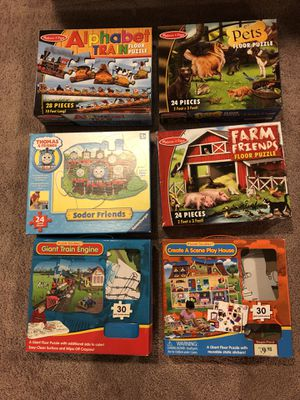 Kids puzzles - Melissa & Doug included for Sale in Clarksburg, MD