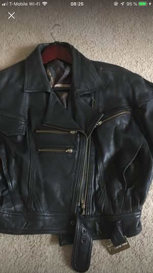 Black motorcycle jacket for Sale in Dumfries, VA