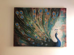 Large Canvas Peacock Picture for Sale in Auburn, WA