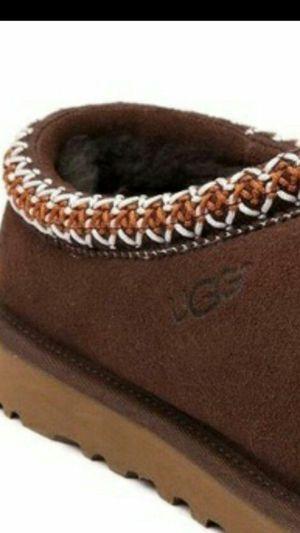 Sz8 WOMEN'S UGG TASMAN BROWN SLIP ON SHOES, used for sale  Tulsa, OK