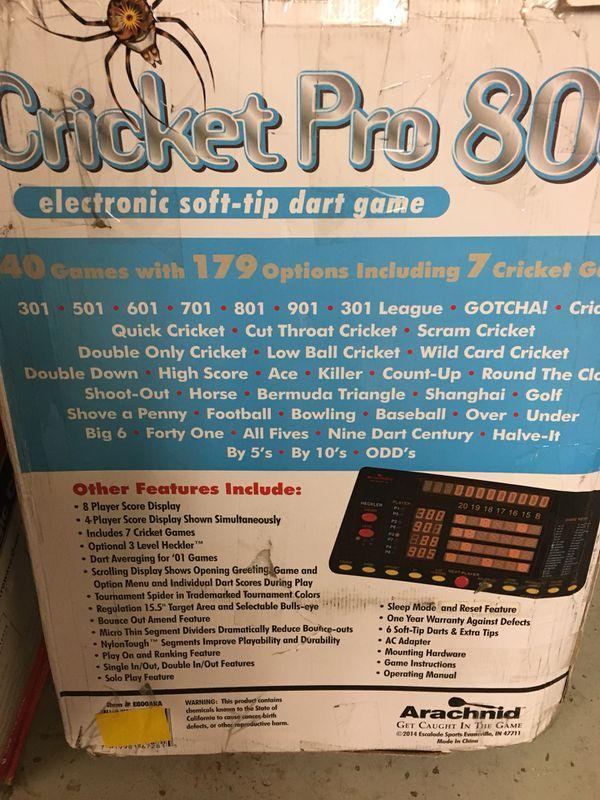 Cricket Pro 800 Dart Board For Sale In Trenton Oh Offerup